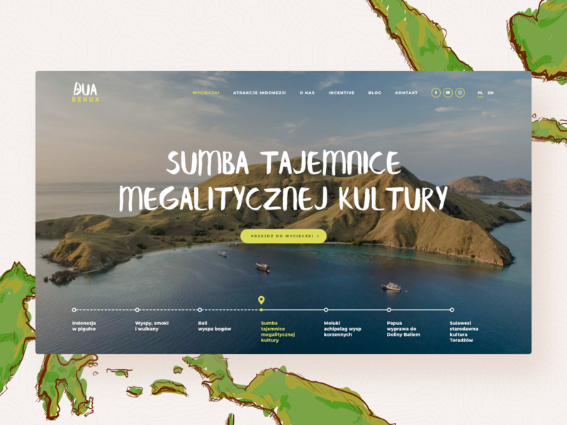 Dua Benua - Hero island traveling website landing indonesia web ux ui hero