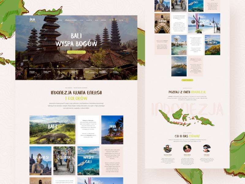 Dua Benua - Home web design indonesia travel landing website web ux ui