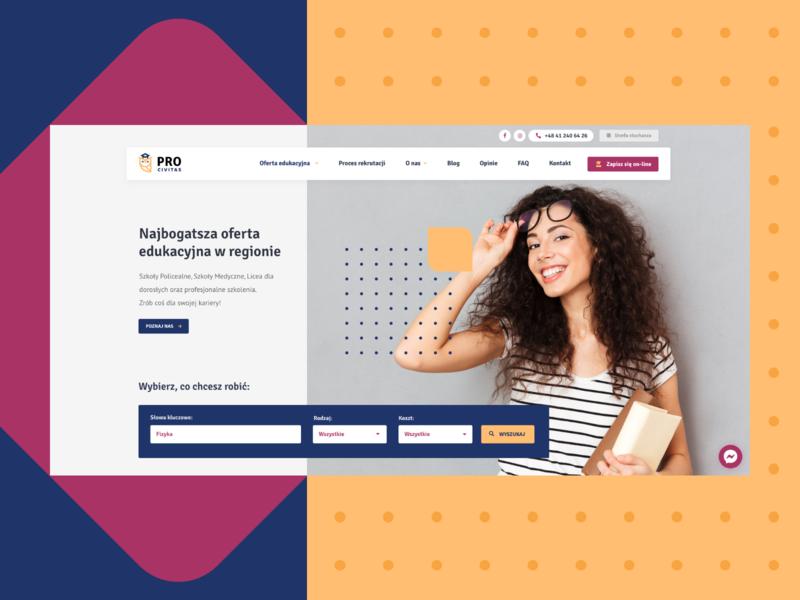 🎓 PRO Civitas - Hero education branding webdesigner hero website learning school landing page ux ui clean design web design design color creative