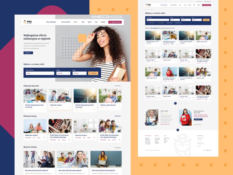 🎓 PRO Civitas landing page landing creative education school wordpress website design design web design color clean design website ux ui