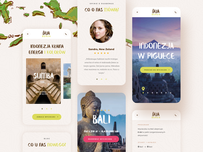 Dua Benua - Responsive Mobile View juicy responsive design responsive ui ux creative mobile web rwd mobile website mobile app design mobile design mobile ui color travel mobile