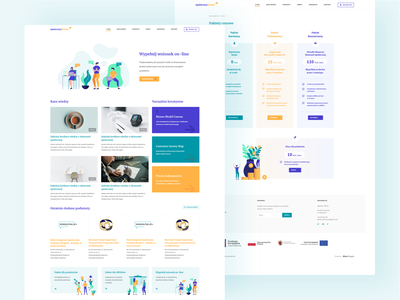 Spoleczny Biznes people homepage xd clean pricing table support web design color illustration social web ux ui
