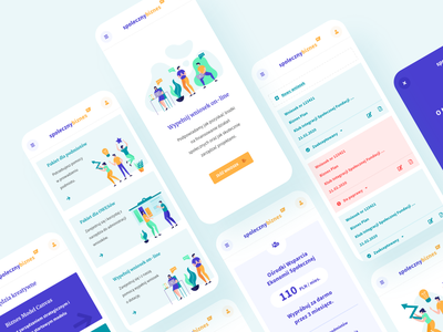 Spoleczny Biznes - Mobile illustration pwa mobile app people color clean xd rwd responsive mobile design mobile ui mobile ux ui