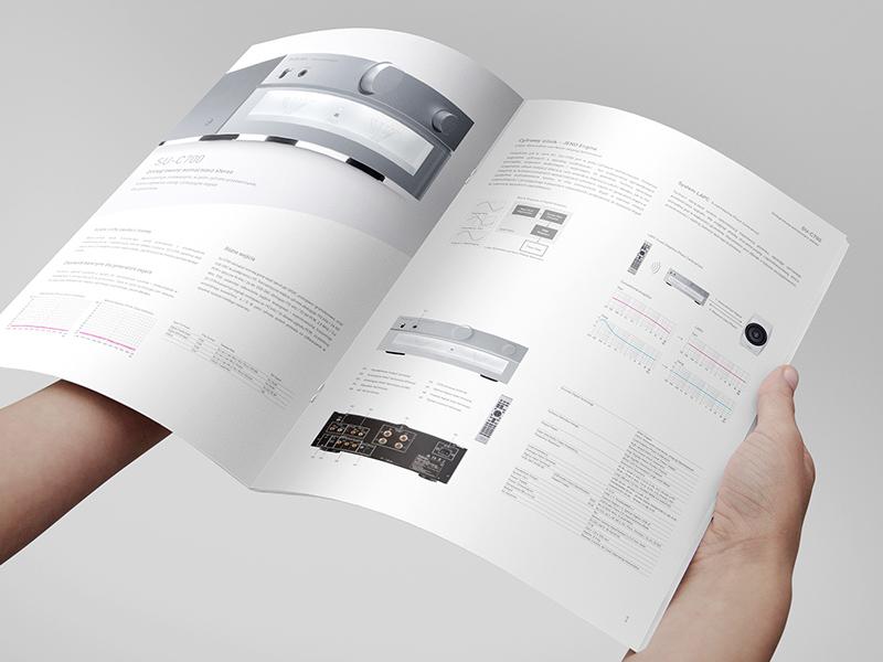 Technics Brochure minimalism clean quality sound music audio technics folder