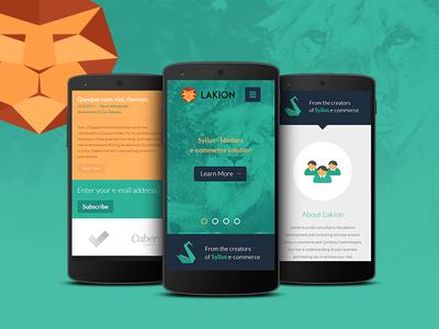 Lakion rwd responsive lion design landing page site web