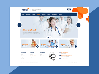 Vitamed clinic ux ui logo web webdesign