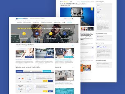 Najlepszekonto.pl mobile responsive rwd finance ux ui grid design website web