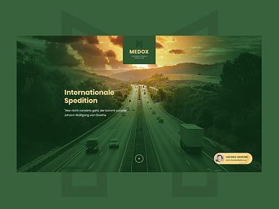 Medox Spedition car transport design minimalism ui logo web