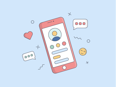 Illustration • Phone flat vector phone illustraion icons