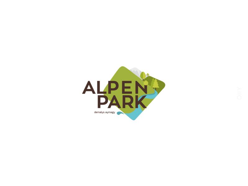 Alpen Park | logodesign park relaxation zone shymkent icon kazakhstan vector logo design branding brand