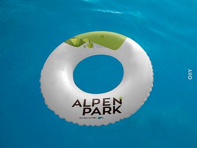 Alpen Park | branding relaxation aquapark park illustration kazakhstan vector logo design branding brand