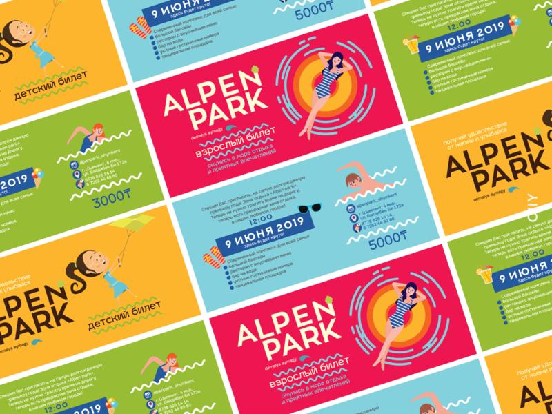 Alpen Park | branding aquapark area recreation shymkent icon kazakhstan vector logo design branding brand