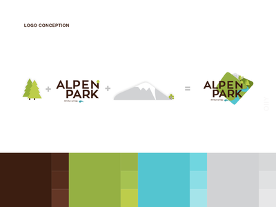 Alpen Park | logodesign разработка логотипа relaxation area hotel illustration shymkent icon kazakhstan vector design logo branding brand