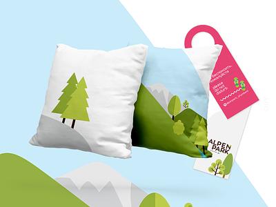 Alpen Park | branding hotel branding hotel pillow hotel design illustration vector logo design branding brand