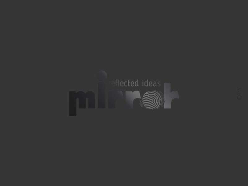 Mirror | branding mirror agency agency logo advertisement shymkent typography icon logo vector design branding brand