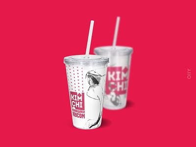 """Kimchi"" korean restaurant   branding restaurant korean kimchi almaty shymkent kazakhstan typography illustration icon vector branding brand logo design"