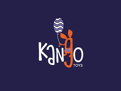 kango | logotype logo design chain toy shop kangaroo logo kangaroo logodesign kazakhstan typography icon logo vector design branding brand