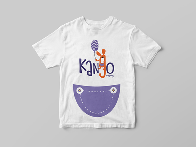 kango | t-shirt character kangaroo merch toy shop shymkent illustration kazakhstan logo vector design branding brand