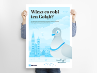#002 Pigeon poster