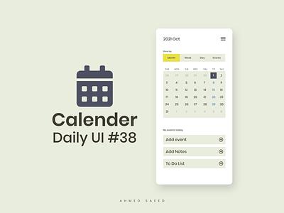 038 Daily UI - Calendar 38 calendar app dailyui ui ux ui ux ui design design