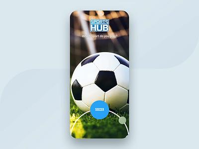 Sports Hub - Onboarding Animation blue app logo spinning spin uxui blue onboarding ui onboarding screen recruitment dark app design iphone x sports animation onboarding