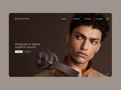 Bang & Olufsen redesign bang olufsen music speakers page site responsive web design website web uxui uiux ux ui product design product mobile graphic design design