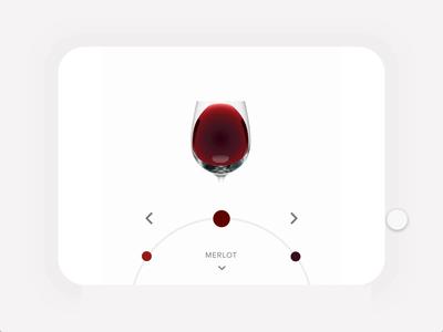 Navigation Wheel ux animation product design mobile app motion animation wine navigation auto animate adobe xd ui design