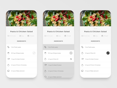 Bitesize UX interaction design student mobile app uidesign recipe app ux design bitesize ux