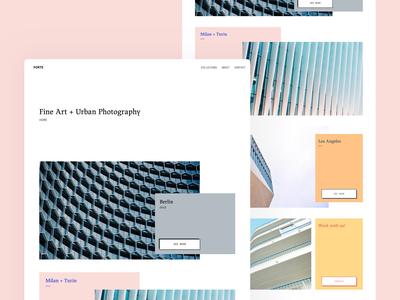 Portfolio Site collection photography simple website web userinterface ui ux clean modern sketchapp portfolio site web design