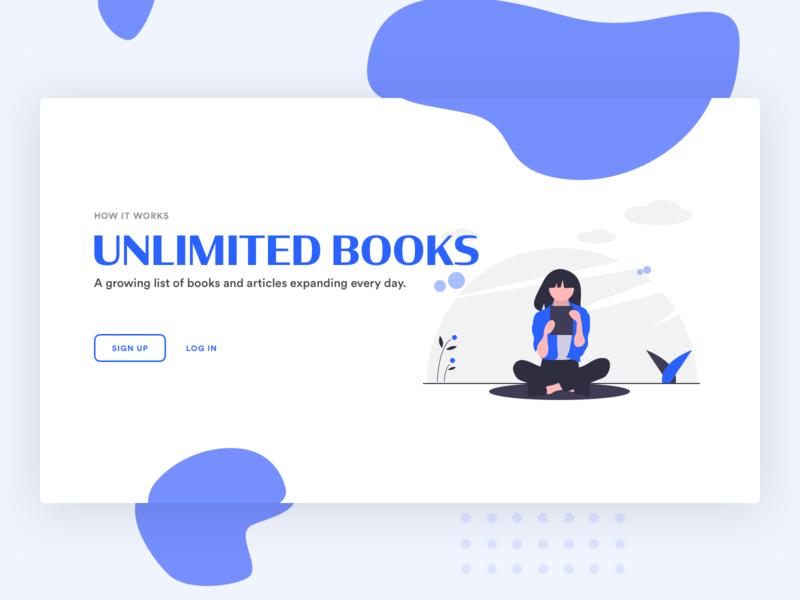 Daily UI 01 — Sign Up reading illustration ui design website books login signup 001 dailyui