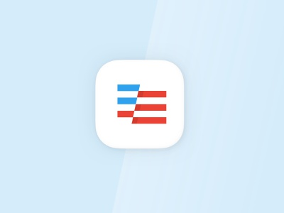 Daily UI 05 — App Icon illustration logo brand vector voting app american sketch ios mobile flag 005 daily ui app icon