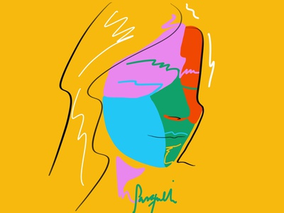 Perfil portrait vector art brushstyle design fashion brand painting colorful digital art brushpen contemporaryart colorful art fashionillustration illustration