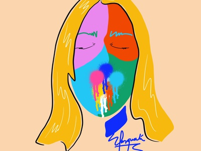 Color explotion fashion illustration fashion brand colorful painting contemporaryart fashionillustration illustration colorful art digital art brushpen