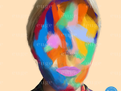 Rainbow face colorful design contemporaryillustration contemporary art brush art fashion brand fashion illustration colorful painting fashionillustration contemporaryart illustration colorful art digital art brushpen