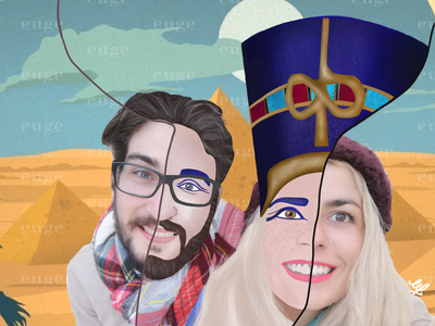 Toon me Toon us couplegoals contemporary art contemporaryillustration egyptian character art character concept colorful design character illustrator character animation character design cartoon cartoon character queen queen nefertiti queen nefertiti toon toonme