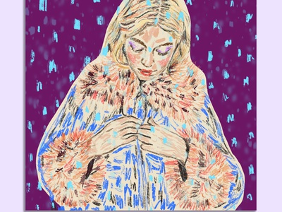 Snowing in Madrid coat fashion design femenine fashioncover branding colorful design painting fashion brand colorful art fashion illustration fashionillustration illustration contemporaryart