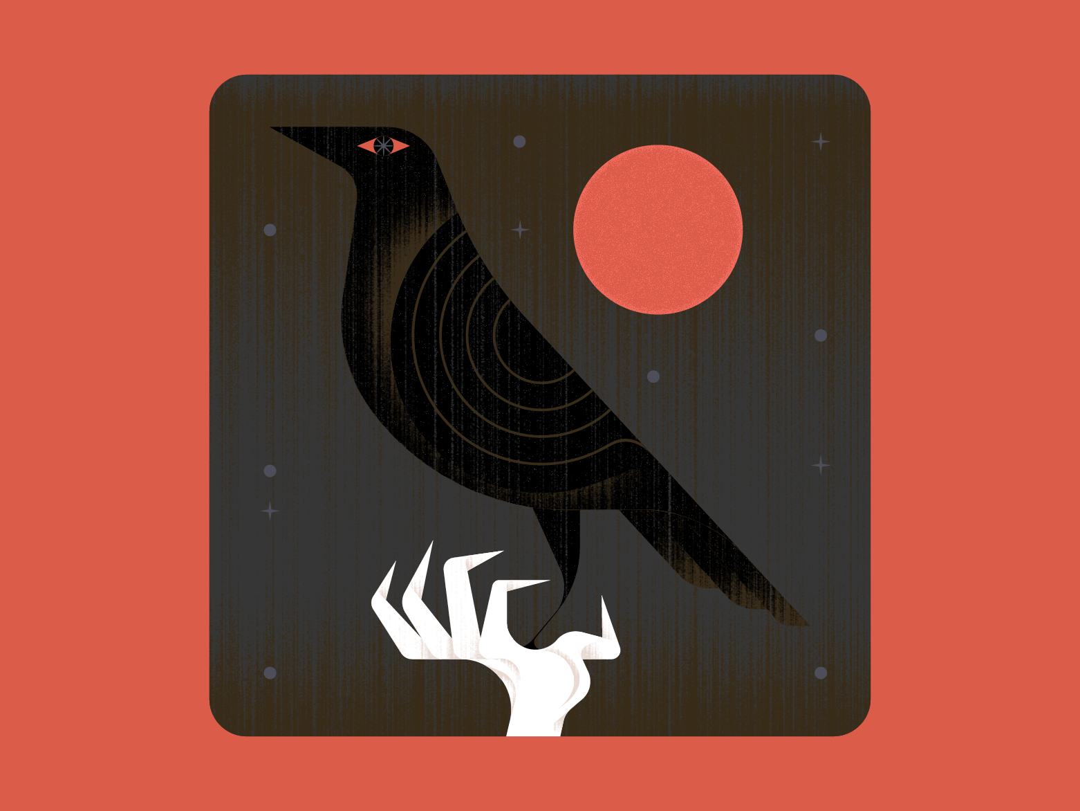 𝖘𝖕𝖎𝖈𝖊 crow game of thrones design vector illustration