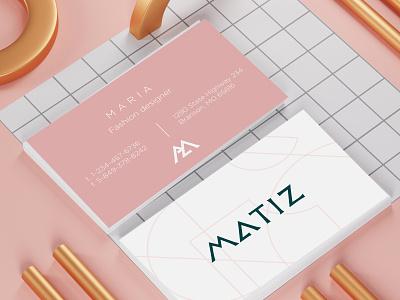 Business card for fashion designer card business card logotype illustration vector monogramlogo logo design branding