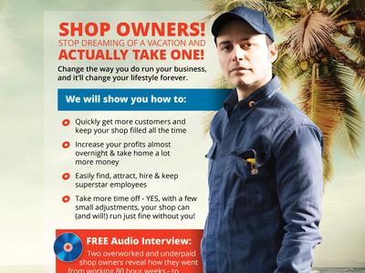 Repair Shop Coach, Print Ad (Full Page) advertising automotive print