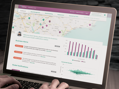Insurance Analytics Dashboard user interface machine learning