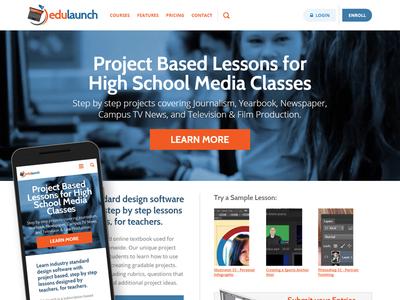 Edulaunch.com Redesign drupal responsive elearning