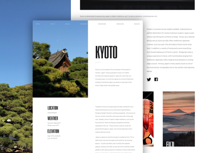 Article Layout - Kyoto content article kyoto japan typekit sketch desktop web design design ux ui