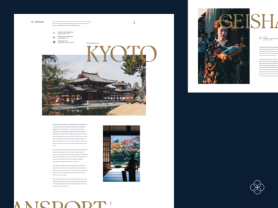 Landing Page - Four Islands / Kyoto