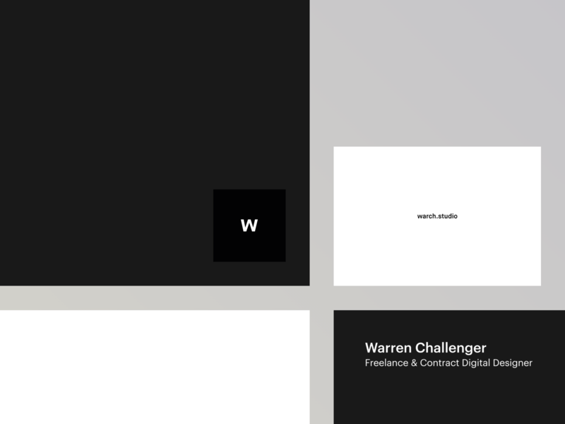warch.studio business cards icon logo vector white black mono minimal graphic  design personal branding me warch business cards design graphic graphicdesigns print branding