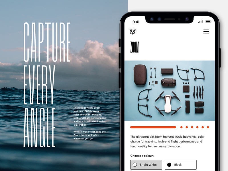 Zoom .Net Design Challenge 2019 filiming video drone surfing sea surf icon typography logo branding concept minimal desktop web design ux ui design