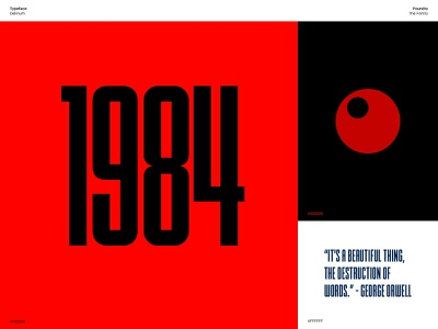 Typefaces & Colours typeface georgeorwell 1984 green blue red minimal sketch inspiration colour typography