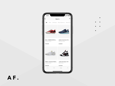Nike Shopping App for iOS motion design after effects blender 3d trainers app product design ux ui design
