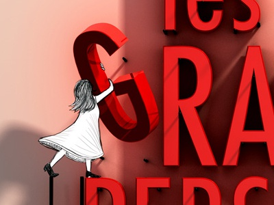 Les Grandes Personnes illustration drawing cinema 4d paris affiche theatre 3d