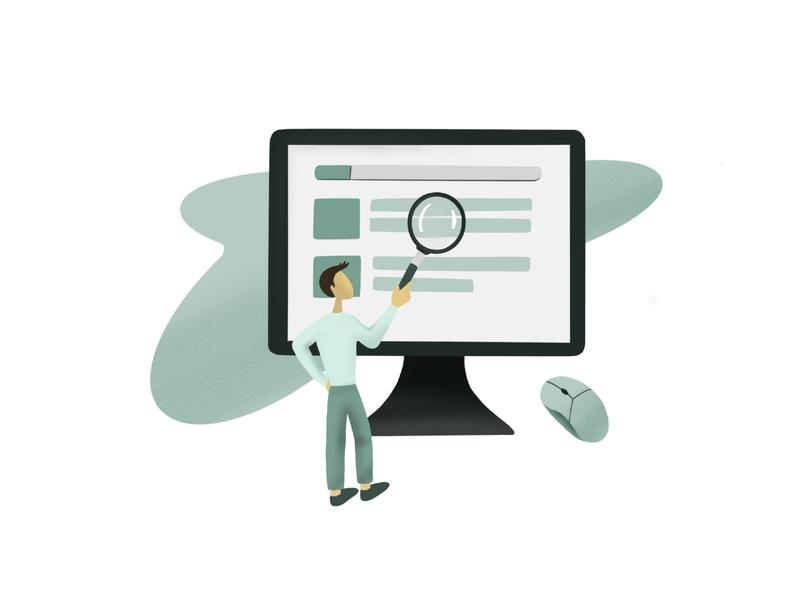 """Find a Digital Tool"" Illustration web graphic design illustration procreate"