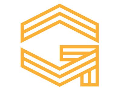 Gasssman Engineers Icon Detail icon logo monogram arrow g stripes military